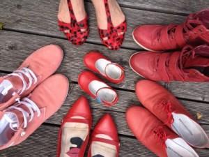 rote Schuhe alltagsschoen